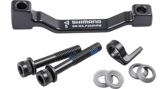 Shimano Skivebremseadapter PM-bremsesadel på PM-gaffel/-ramme